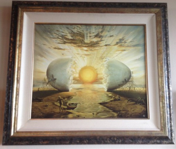 """""""Sunrise By The Ocean"""" Giclee on canvas by Vladimir Kush"""