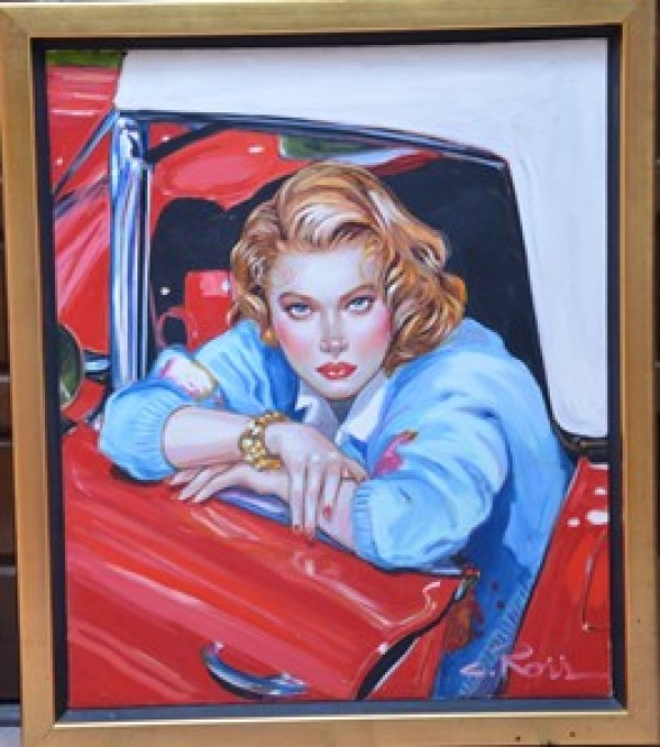 """Something to Talk About"" Original Oil on Canvas by Colleen Ross"