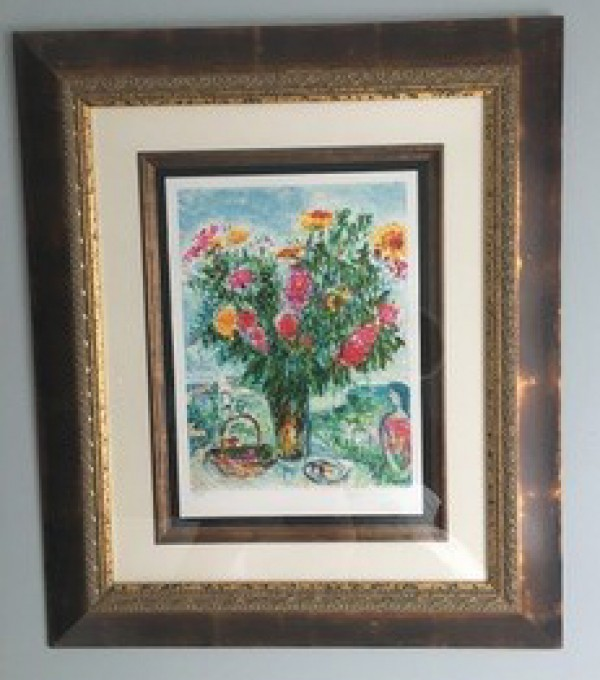 Marc Chagall Le Grand Bouquet plate signed lithograph