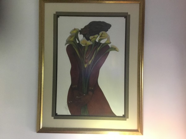 """""""Sweet Lillies"""" a limited edition Serigraph on Paper by Charles Bibbs"""