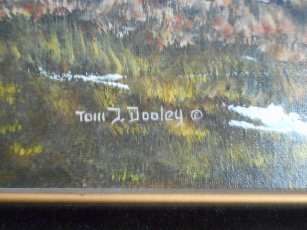 """Western slope of Pikes Peak as viewed from Gold Camp Rd. Colorado"" Signature from Original oil on canvas by Tom Dooley"
