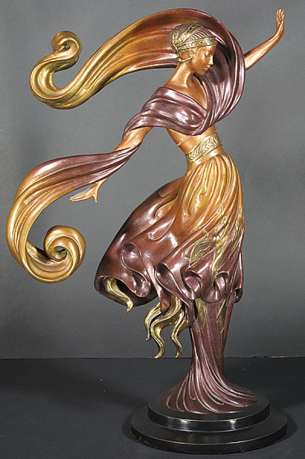 """Flames of Love"" Bronze by Erte"