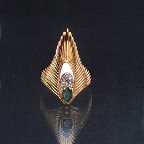 """""""Rayonnement Ring State VIII"""" Fine Art to Wear Earrings by Erte"""