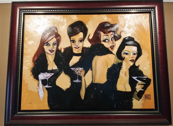 """Drinking Boa's"" Framed Enhanced Giclee/Canvas by Todd White"