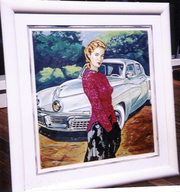 """""""Very Nice Lines"""" Framed, Hand-Embellished Serigraph by Colleen Ross"""