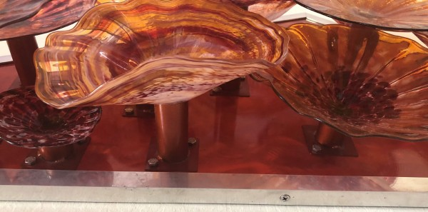 Hand-Blown Glass on Machined Airplane Grade Aluminum