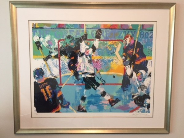 Gretzky's Goal Serigraph by LeRoy Neiman
