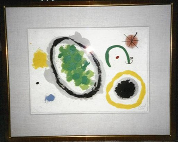 """""""La Creation"""" Framed Lithograph by Joan Miro"""