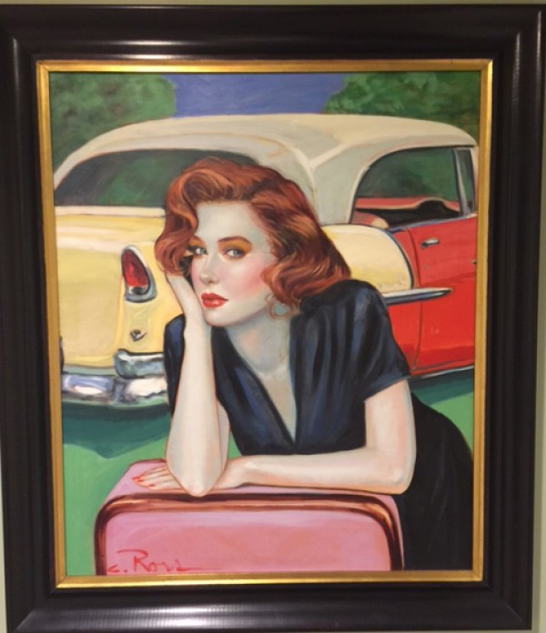 """""""Don't be Cruel"""" Framed Original Oil on Canvas by Colleen Ross"""