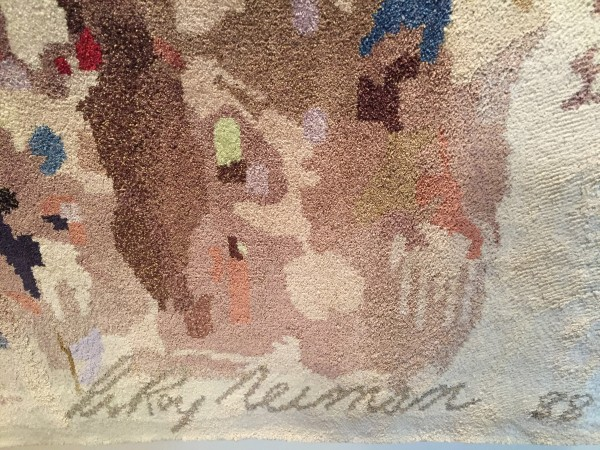 """""""New York Stock Exchange"""" Silk Tapestry Detail by LeRoy Neiman"""