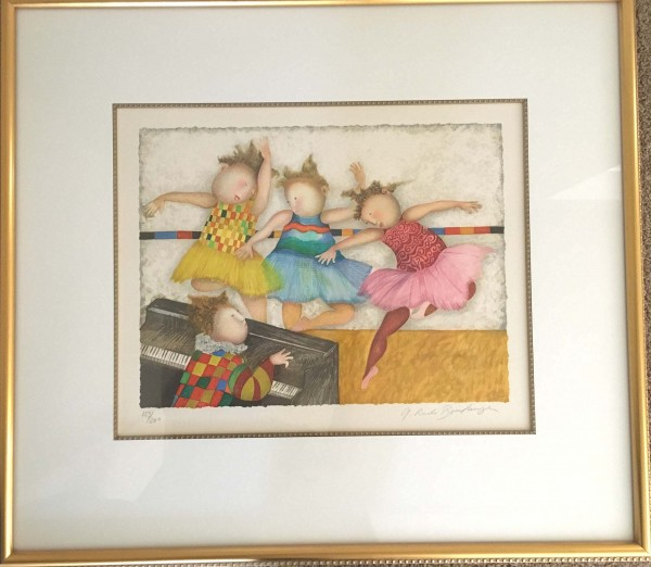 """Premier Pas"" Lithograph on Paper by Graciela Rodo Boulanger"