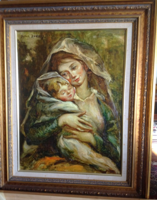 """Mother and Child"" Original Oil on Canvas by Dulce Beatriz"