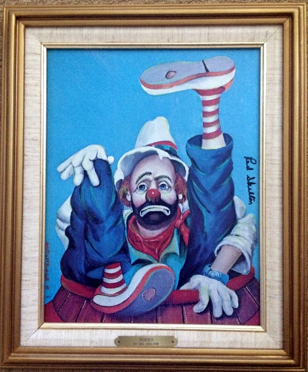 """""""Rodeo"""" Serigraph on Canvas by Red Skelton"""