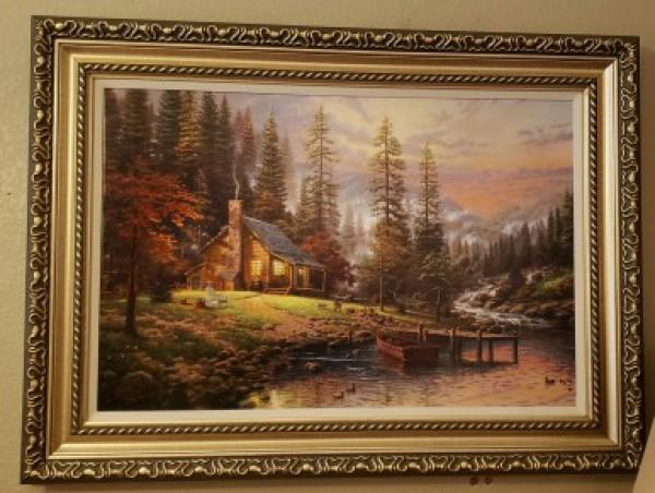 """Peaceful Retreat"" Giclee on Canvas by Thomas Kincade"