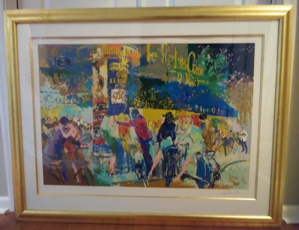 """""""Left Bank Cafe"""" Serigraph by LeRoy Neiman"""