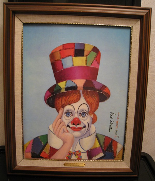 """Crazy Quilt Clown"" Framed Serigraph by Red Skelton"