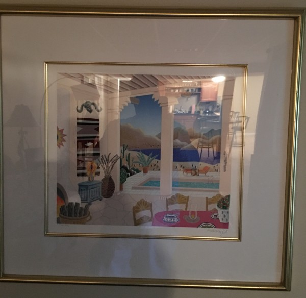 """Desert Patio"" Serigraph from Thomas McKnight's Four Corners Suite"