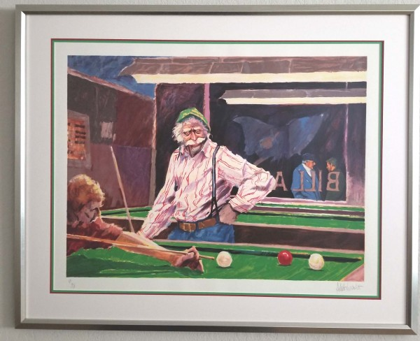 """Billiards at Cafe Palermo"" Serigraph by Aldo Luongo"