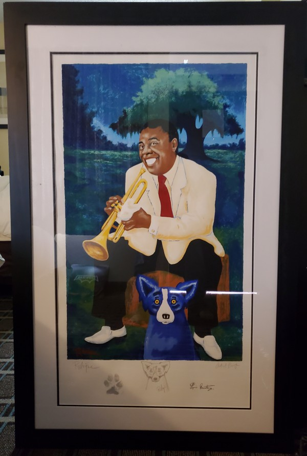 """""""New Orleans Jazz & Heritage Festival 1995"""" Artist Proof Poster by Blue Dog Artist George Rodrigue"""