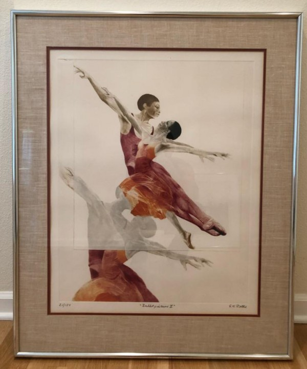 """""""Ballet Picture II"""" Mezzotint by G. H. Rothe"""