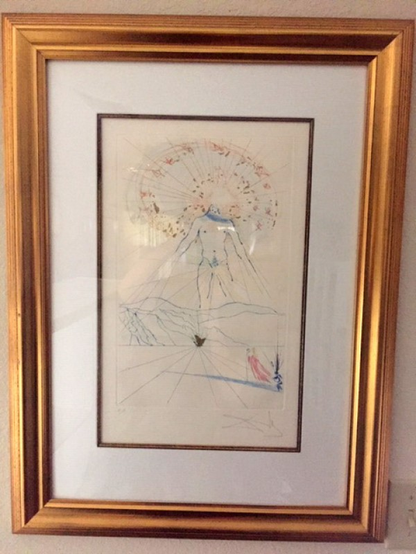 """The Voice Of My Beloved"" Hand-Colored Etching by Salvador Dali"