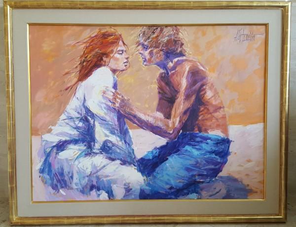 """""""Warmth"""" Original Acrylic on Canvas by Aldo Luongo"""