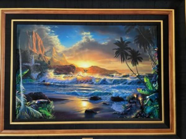 """""""Beyond Hana's Gate"""" Lassengraph on Canvas by Christian Riese Lassen"""