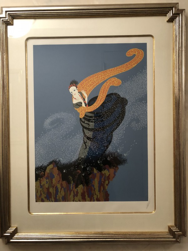 """Summer Breeze"" Framed Serigraph by Erte"