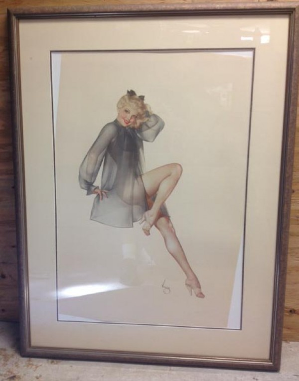 """Sleepy Time Gal"" Framed Lithograph/Arches by Alberto Vargas"