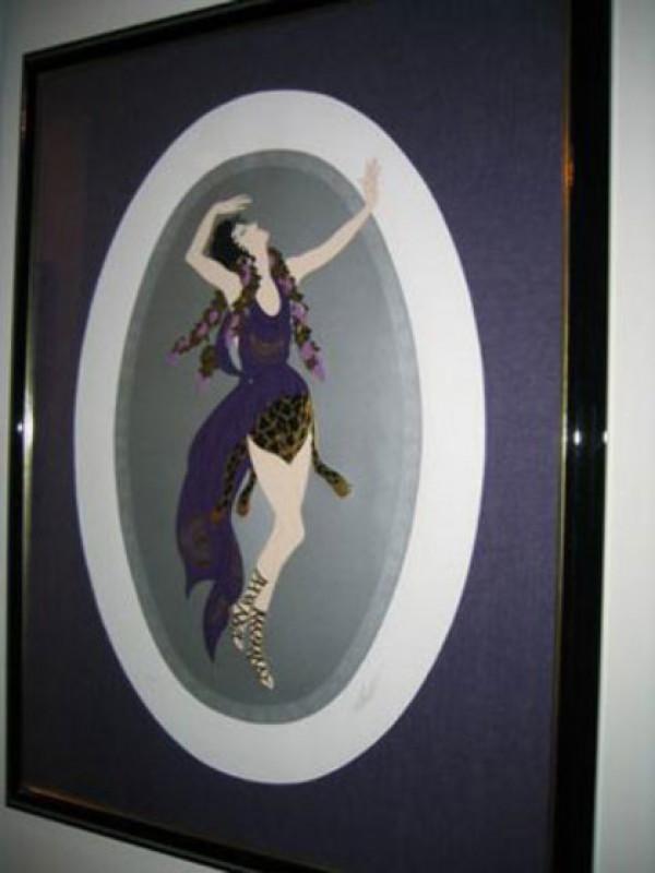 """""""Bacchant"""" Framed 1987 serigraph by Erte"""