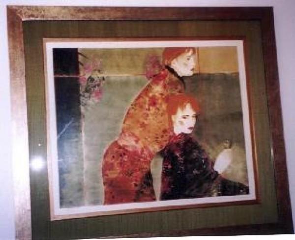 """""""Masquerade"""" Framed Serigraph by Joanna Zjawinska"""