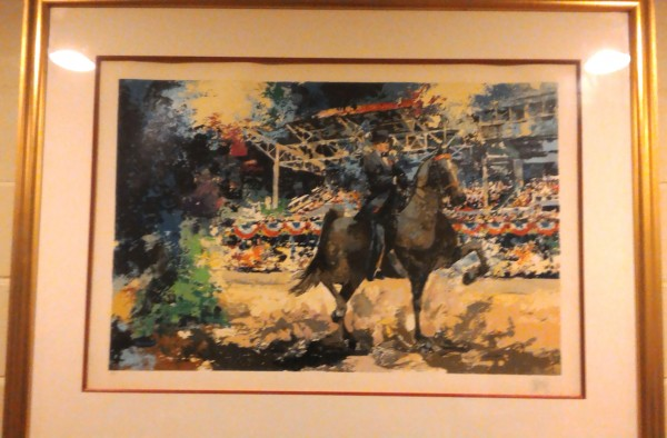 """Grandstand"" Serigraph from American Horse Show Suite by Wayland Moore"