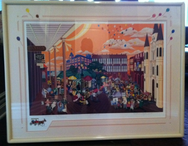 """""""Portraits In The Park"""" Framed AP Remarque Serigraph by Melanie Taylor Kent"""