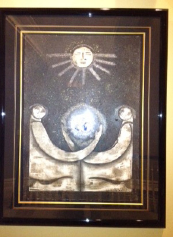 """""""Contemplacion"""" Framed Original Multiple by Orlando, A.B."""