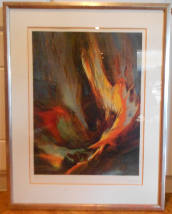 """""""Flight to the Sun"""" Limited Edition Color Lithograph by Leonardo Nierman"""