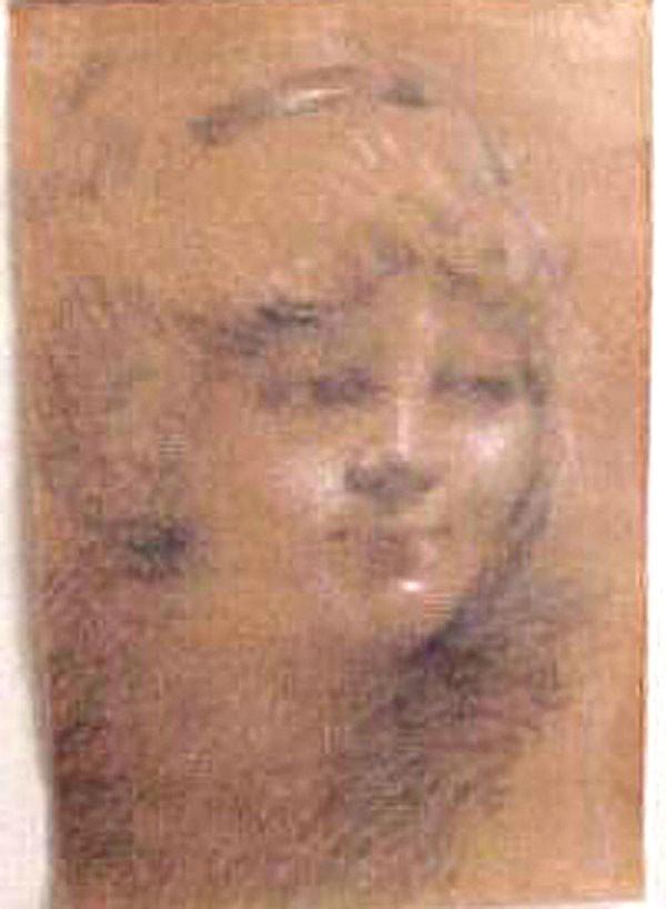 """""""Untitled Portrait II"""" Original Pastel by William Henry Clapp"""
