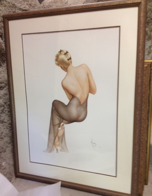 """""""November 1944"""" Framed Lithograph/Arches by Alberto Vargas"""