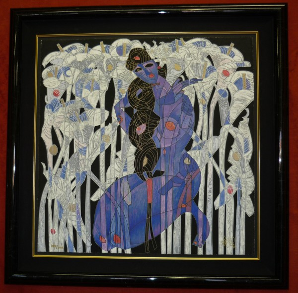 """""""Calla Lilies"""" Serigraph by Tie-Feng Jiang"""
