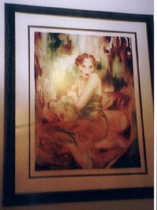 """Odalisque"" Framed Serigraph by Joanna Zjawinska"