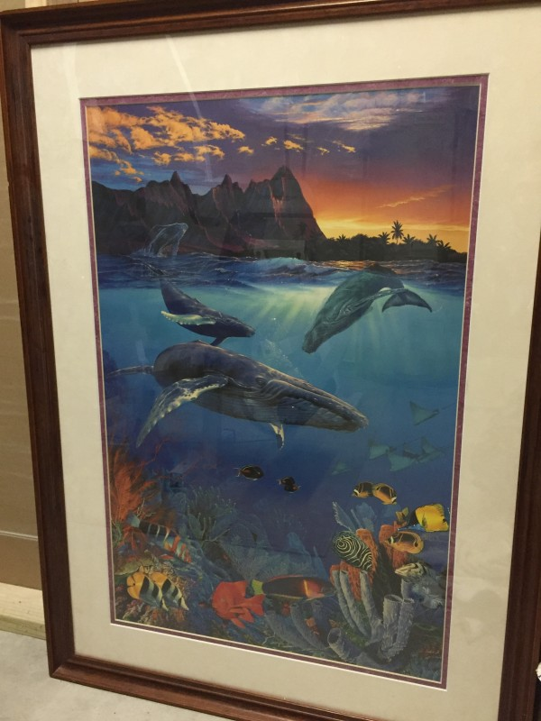 """""""Hawaii Sea Passage"""" Framed remarqued Framed Lassengraph by Christian Riese Lassen"""