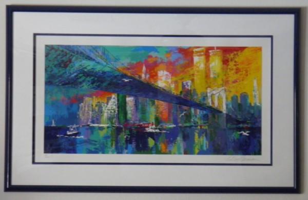 """Brooklyn Bridge"" Limited Edition Framed Serigraph by LeRoy Neiman"