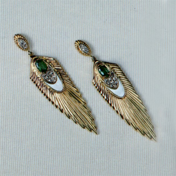 """Rayonnement Earrings, State IX"" Fine Art to Wear Earrings by Erte"