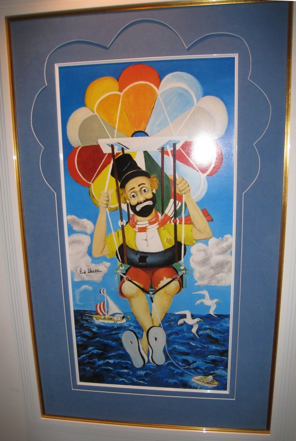 """The Sky's The Limit"" Framed Serigraph by Red Skelton"