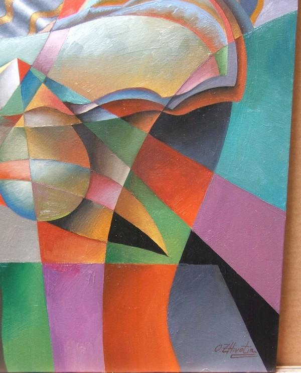 """The Gaze"" Original Oil on Canvas by Oleg Zhivetin"