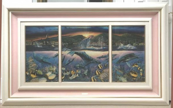 """""""Lahaina Visions:' mixed Media Triptych by Christian Riese Lassen"""