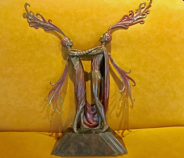 """""""Kiss of Fire"""" Bronze Sculpture by Erte available from Diva Art Group"""