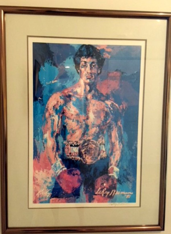 Rocky Balboa Signed Lithograph Poster by LeRoy Neiman