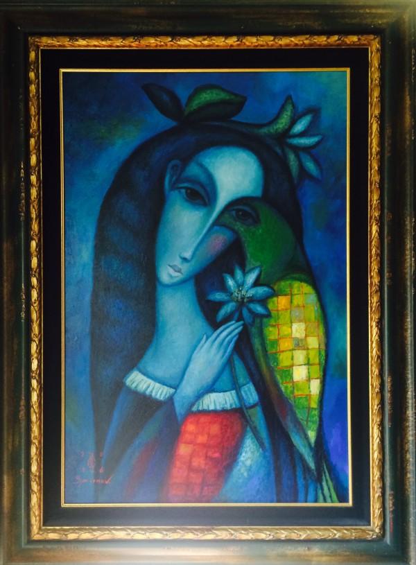 """Night Bird""  Original Oil on Canvas by Sergey Smirnov49600."