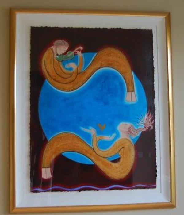 """Serenata - Blue Moon"" Framed Original Multiple by Orlando, A.B."