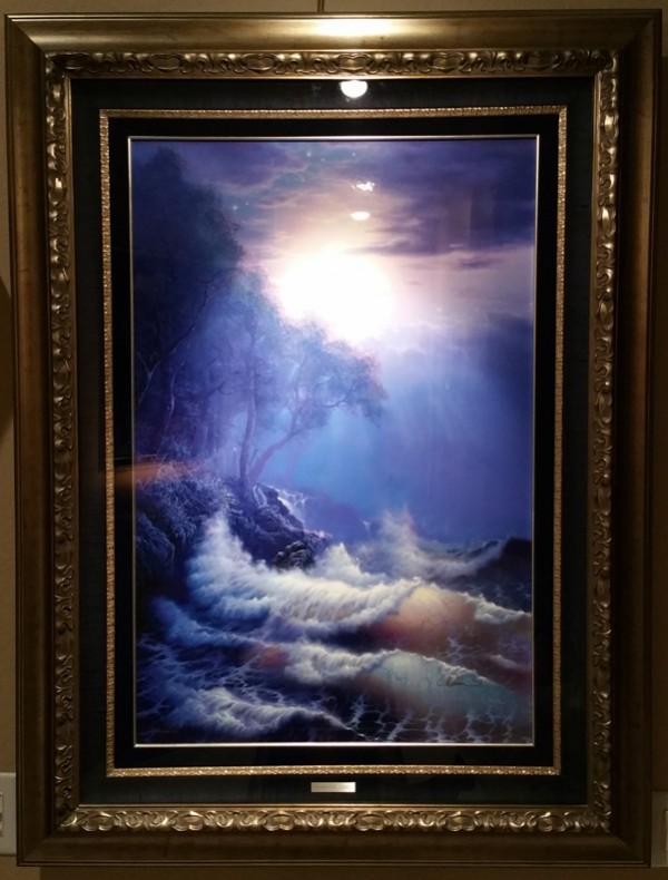 """Seeking The Light"" Framed Lassengraph by Christian Riese Lassen"